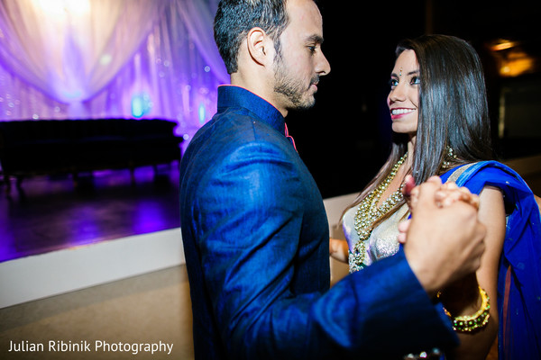 First dance in Indian Wedding Reception Inspiration Shoot by Julian Ribinik Photography
