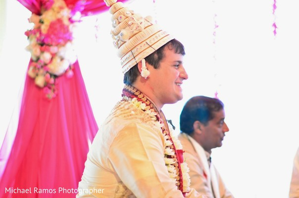Ceremony in Sugar Land, TX Indian Fusion Wedding by Michael Ramos Photographer