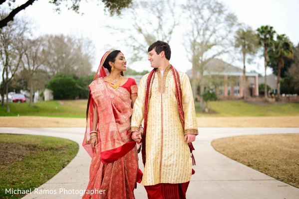 Portraits in Sugar Land, TX Indian Fusion Wedding by Michael Ramos Photographer