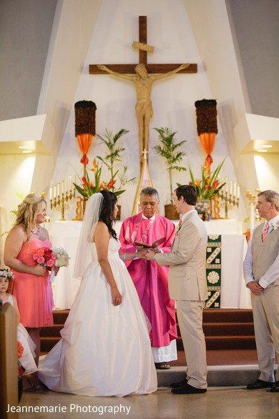 Ceremony in Honolulu, HI Fusion Destination by Jeannemarie Photography