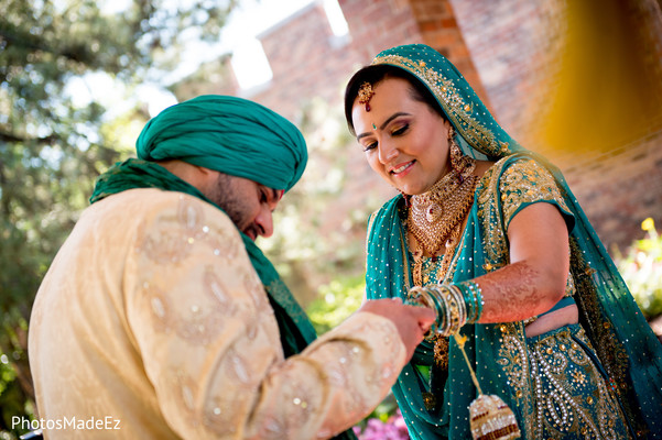 First Look Portraits in Parsippany, NJ Indian Wedding by PhotosMadeEz
