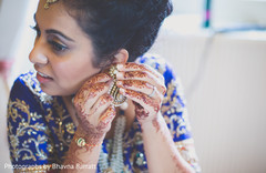 An Indian bride and groom get ready for their wedding in the UK!