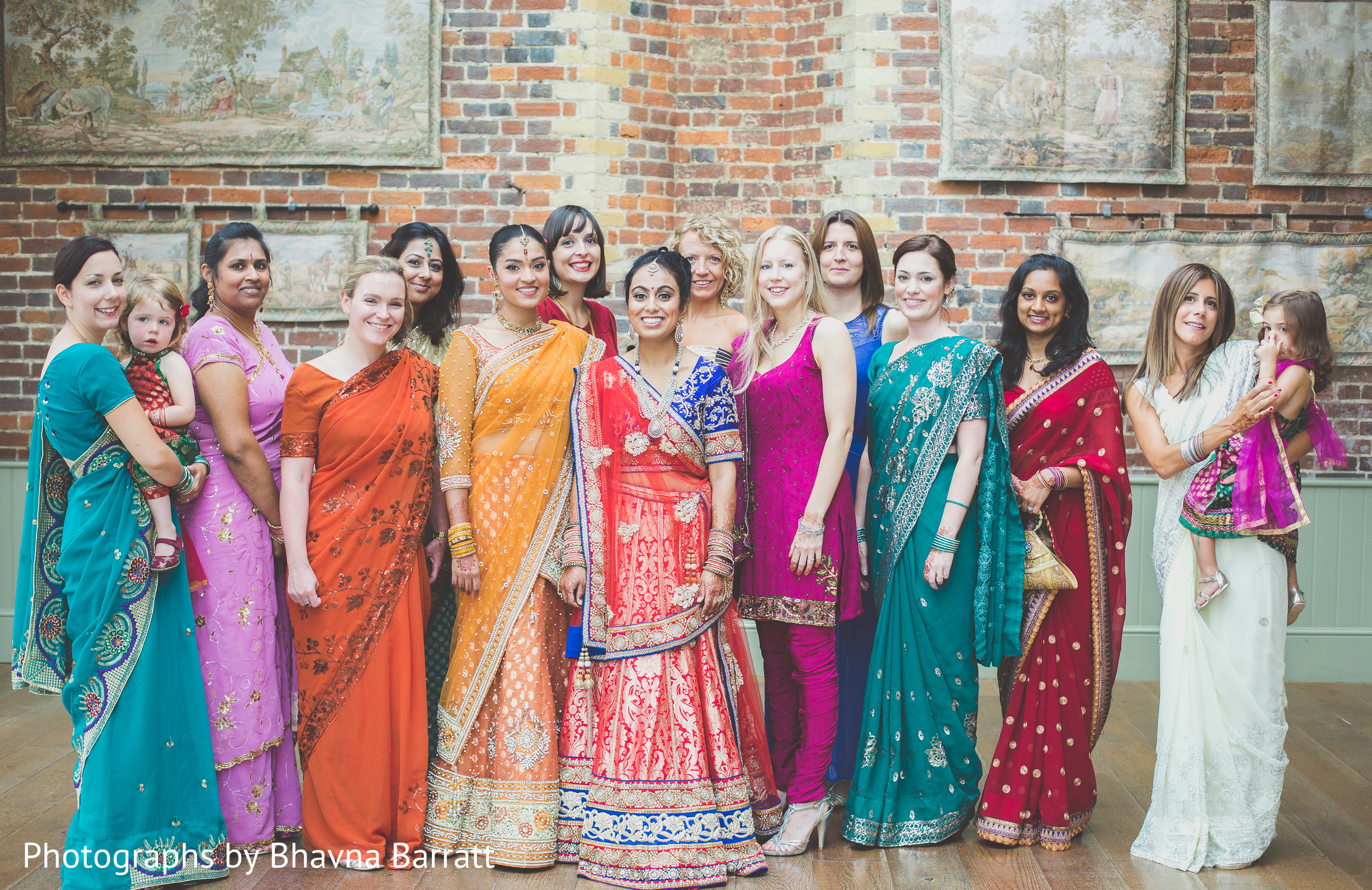 Bridal party in hertfordshire uk indian wedding by for Indian wedding guest dresses uk