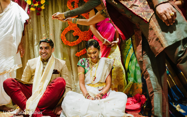Wedding ceremony in Woodbridge, NJ Indian Wedding by Jashim Jalal Studios