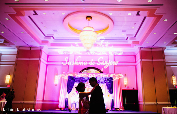 Wedding reception in Woodbridge, NJ Indian Wedding by Jashim Jalal Studios