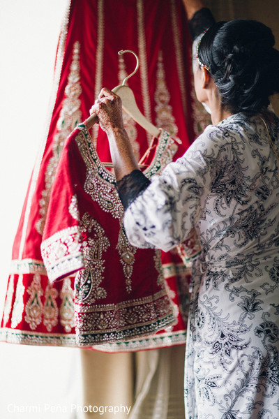 Getting ready in Woodland Park, NJ Indian Wedding by Charmi Peña Photography