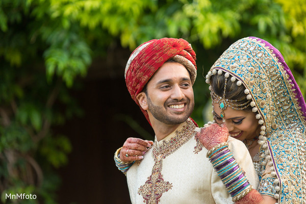 First look portraits in Dallas, TX Pakistani Wedding by MnMfoto