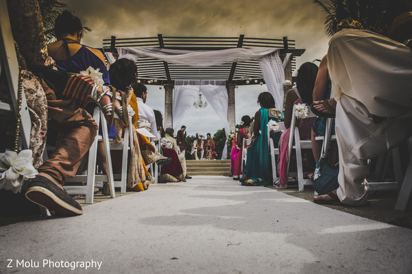 Ceremony in Grand Cayman Indian Destination Wedding by Z Molu Photography