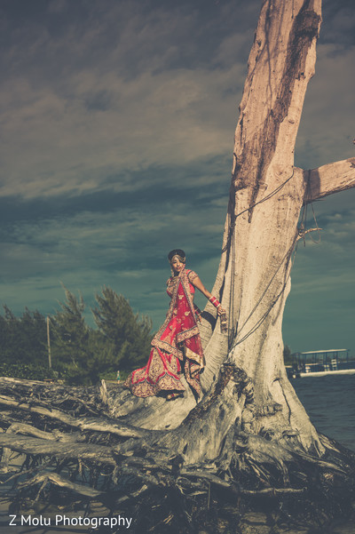 Portraits in Grand Cayman Indian Destination Wedding by Z Molu Photography