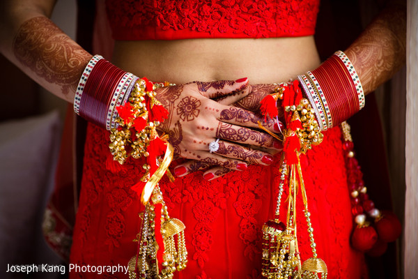 Bridal jewelry in Chicago, IL Indian Fusion Wedding by Joseph Kang Photography