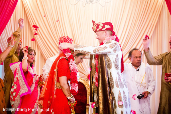 Wedding ceremony in Chicago, IL Indian Fusion Wedding by Joseph Kang Photography