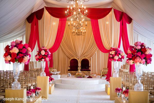 mandapmandap designIndian wedding designIndian wedding decorwedding ceremony decor & Chicago IL Indian Fusion Wedding by Joseph Kang Photography ...