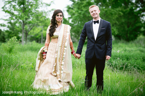 Reception portraits in Chicago, IL Indian Fusion Wedding by Joseph Kang Photography