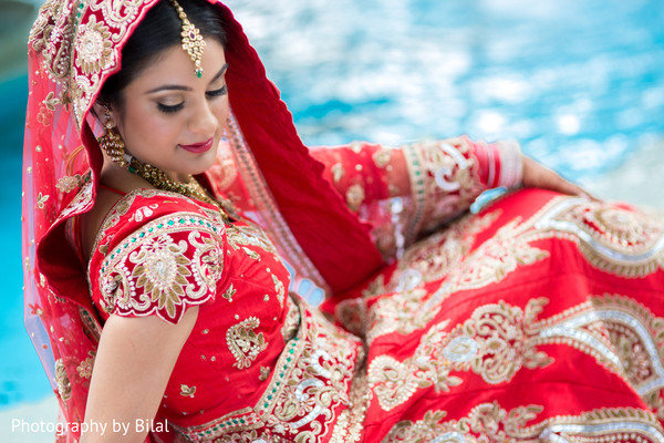 Bridal portraits in Princeton, NJ Indian Wedding by Photography by Bilal