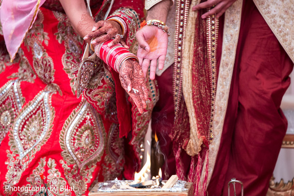 Wedding ceremony in Princeton, NJ Indian Wedding by Photography by Bilal