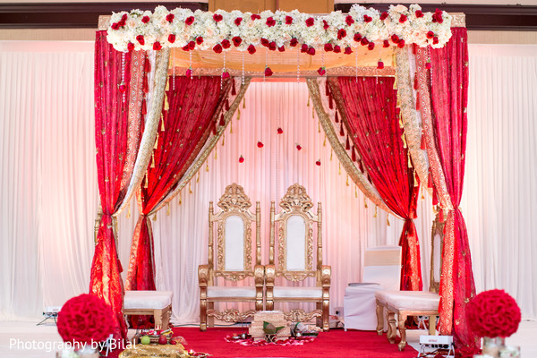 floral decor in princeton nj indian wedding by photography by bilal maharani weddings. Black Bedroom Furniture Sets. Home Design Ideas
