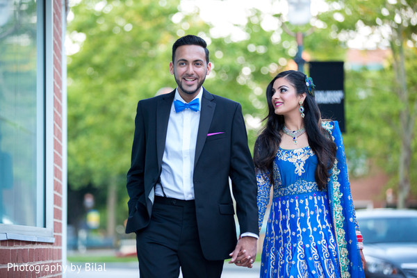 Reception portraits in Princeton, NJ Indian Wedding by Photography by Bilal