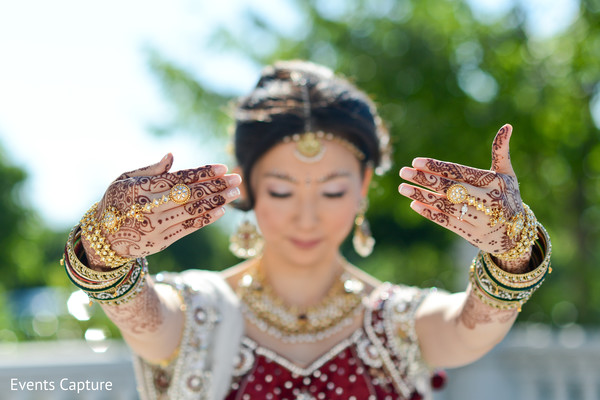 Bridal portraits in Somerset, NJ Indian Fusion Wedding by Events Capture