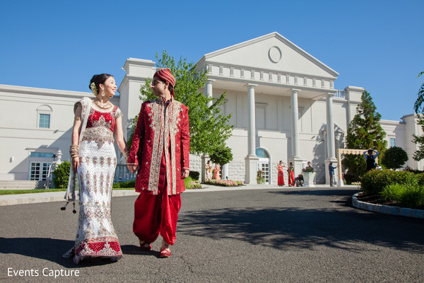 First look in Somerset, NJ Indian Fusion Wedding by Events Capture