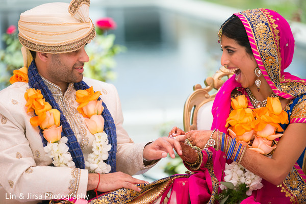 Wedding ceremony in Yorba Linda, CA Indian Wedding by Lin & Jirsa Photography