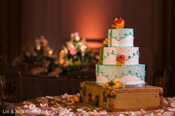 Wedding cake in Yorba Linda, CA Indian Wedding by Lin & Jirsa Photography
