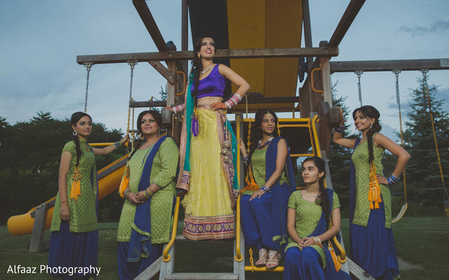 Bridal party portraits in Ontario, Canada Sikh Wedding by Alfaaz Photography