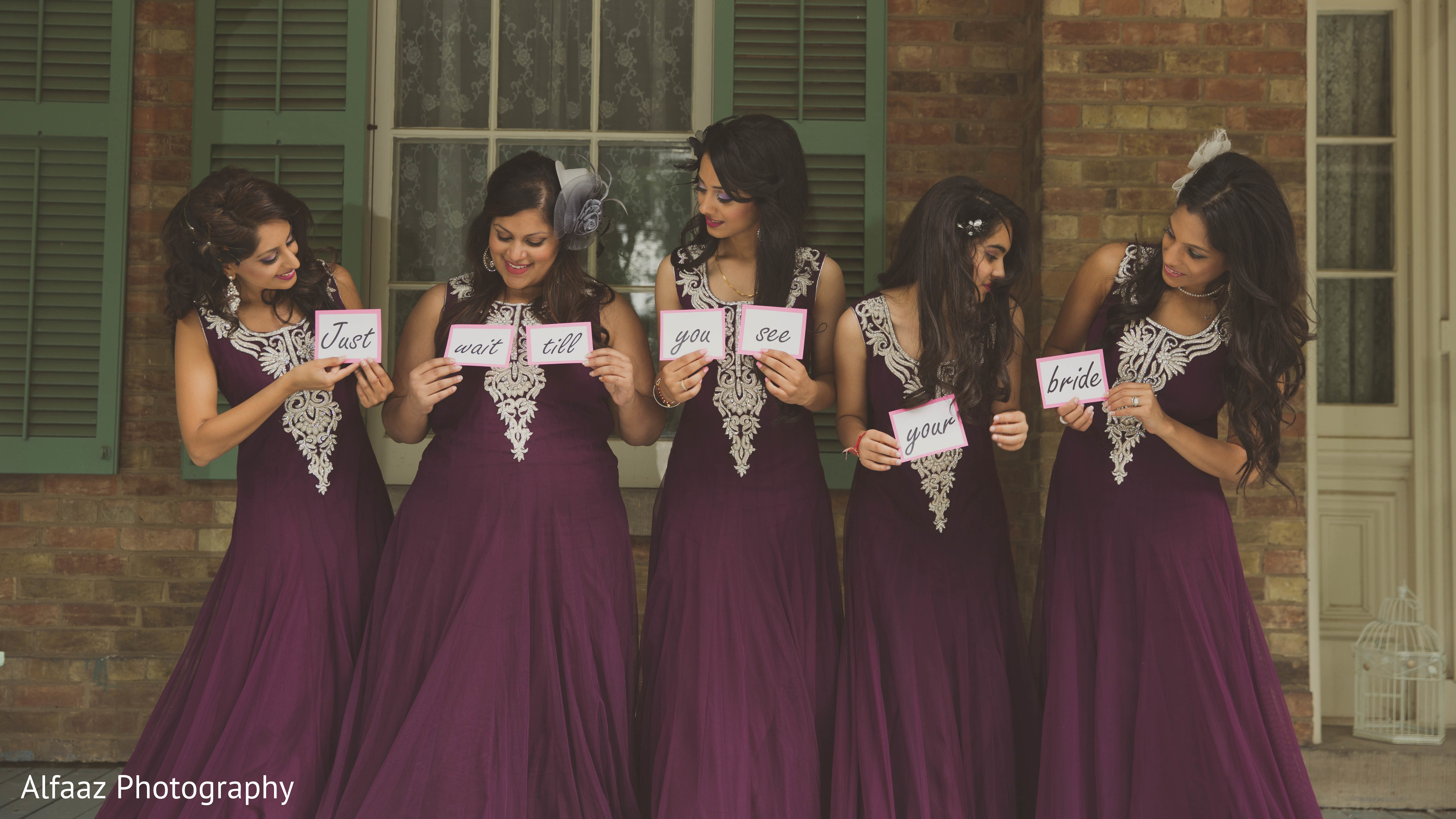 Bridal Party Portraits In Ontario Canada Sikh Wedding By Alfaaz Photography