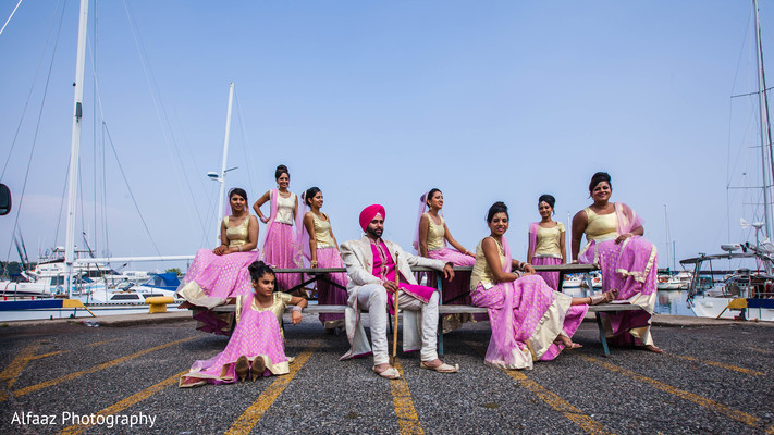 Wedding portraits in Ontario, Canada Sikh Wedding by Alfaaz Photography