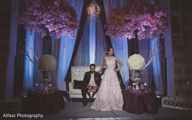 Reception portraits in Ontario, Canada Sikh Wedding by Alfaaz Photography