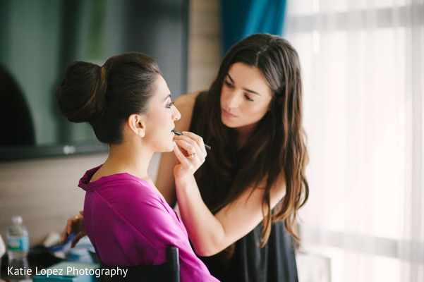 Getting ready in Miami, FL Indian Wedding by Katie Lopez Photography