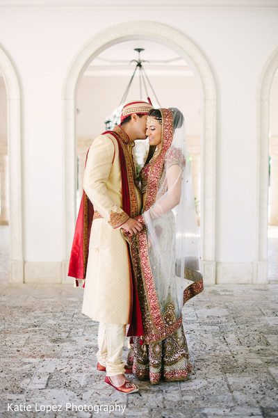 First look in Miami, FL Indian Wedding by Katie Lopez Photography