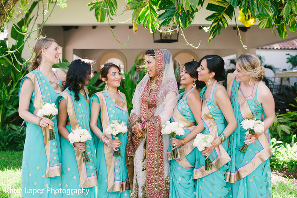 Bridal party portraits in Miami, FL Indian Wedding by Katie Lopez Photography