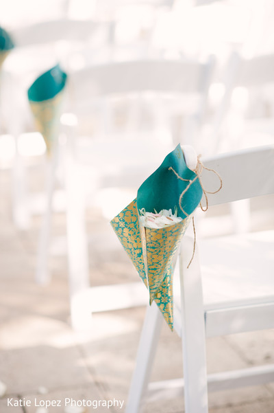 Ceremony Floral & Decor in Miami, FL Indian Wedding by Katie Lopez Photography
