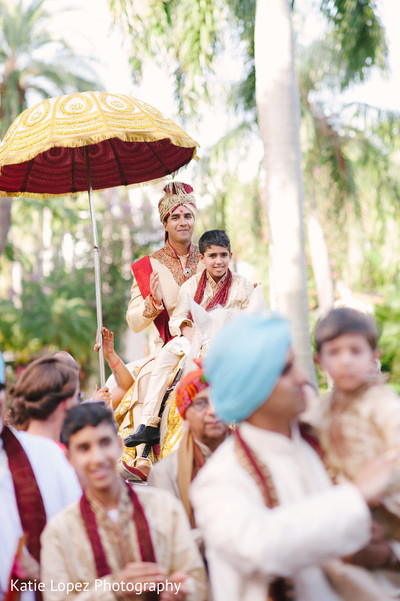 Baraat in Miami, FL Indian Wedding by Katie Lopez Photography