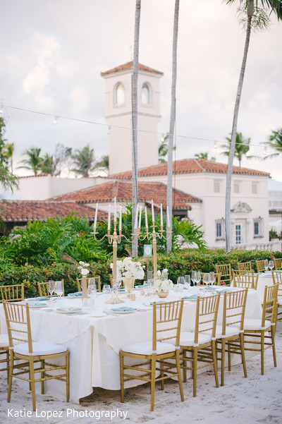 Reception Floral & Decor in Miami, FL Indian Wedding by Katie Lopez Photography