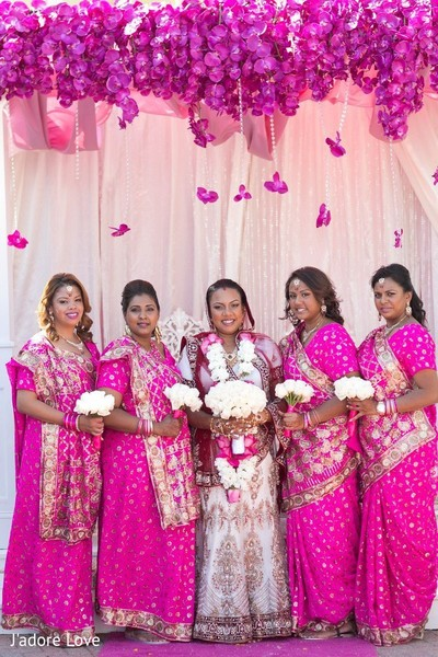 Bridal party portraits in Island Park, NY Indian Wedding by J'adore Love Photo & Cinema