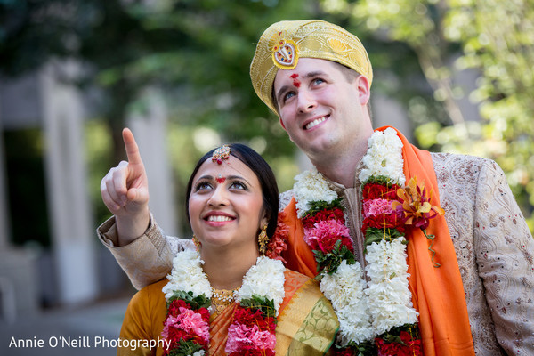 Ceremony in Pittsburg, PA Indian Wedding by Annie O'Neill Photography