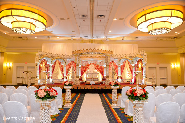 Floral & Decor in Hanover, NJ Indian Wedding by Events Capture