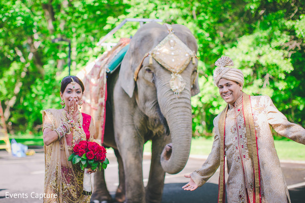 Wedding portraits in Hanover, NJ Indian Wedding by Events Capture