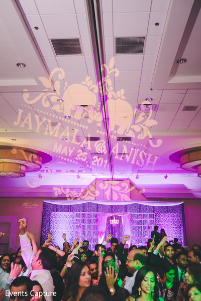Wedding reception in Hanover, NJ Indian Wedding by Events Capture