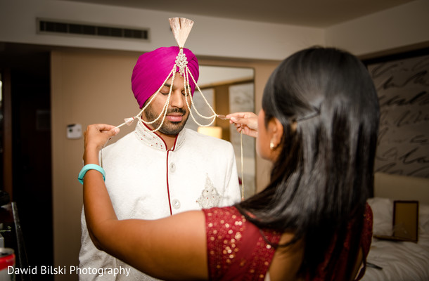Getting Ready in San Francisco, CA Indian Wedding by Dawid Bilski Photography