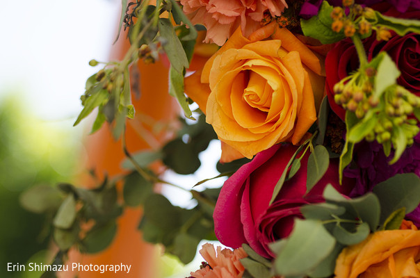 Floral & Decor in Los Angeles, CA Indian Wedding by Erin Shimazu Photography