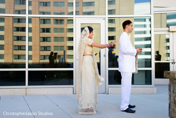 First look in Arlington, VA Indian Wedding by ChristopherJason Studios