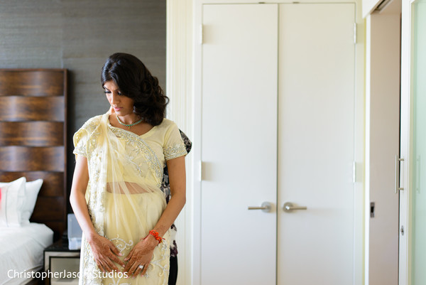 Bridal portrait in Arlington, VA Indian Wedding by ChristopherJason Studios