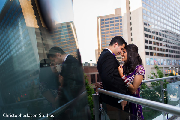 Reception portraits in Arlington, VA Indian Wedding by ChristopherJason Studios