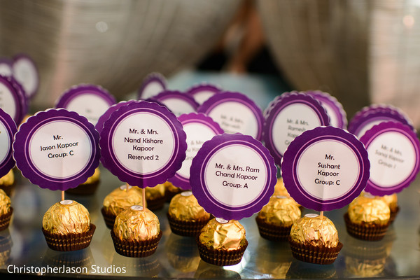 Wedding favors in Arlington, VA Indian Wedding by ChristopherJason Studios