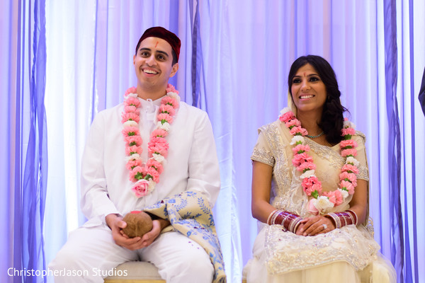 Wedding ceremony in Arlington, VA Indian Wedding by ChristopherJason Studios