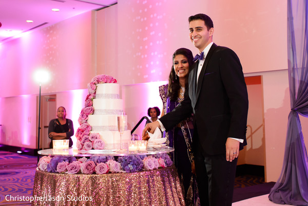 Wedding reception in Arlington, VA Indian Wedding by ChristopherJason Studios