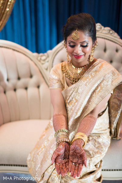 Bridal portraits in Falls Church, Virginia Indian Wedding by M+A Photography