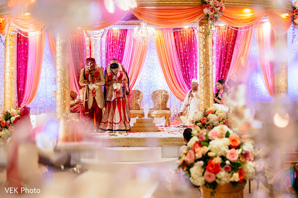 Ceremony in Dallas, TX Indian Wedding by VEK Photo